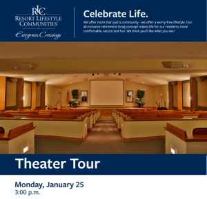 Evergreen Crossing Retirement Resort Theater Tour